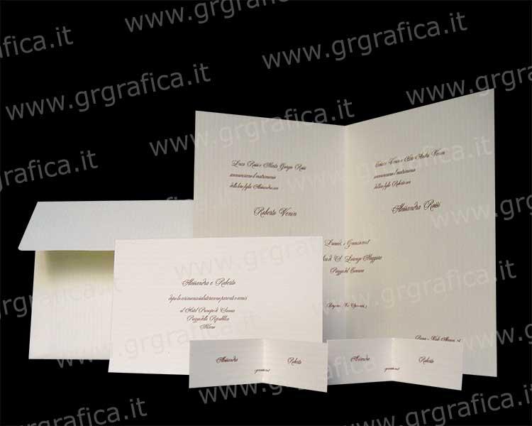 Cartoncino Per Partecipazioni Matrimonio.Linea Sposi Kit Partecipazioni