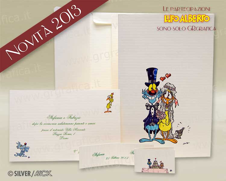 Biglietti Auguri Matrimonio Lupo Alberto : Linea sposi paper design creazioni in carta